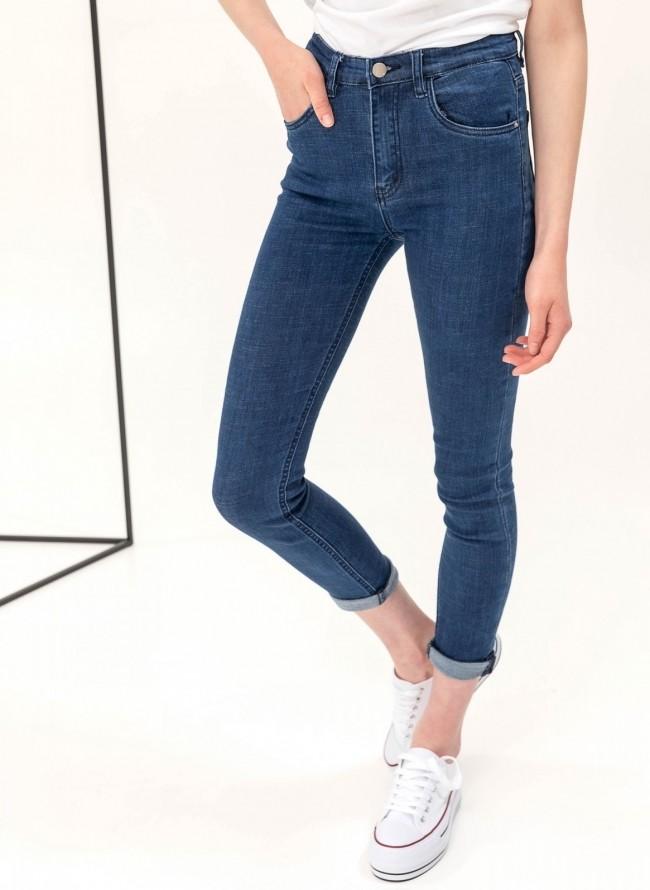 Ντένιμ παντελόνι με χρώμα - Χακί - TheFashionProject b7d2c0dee76