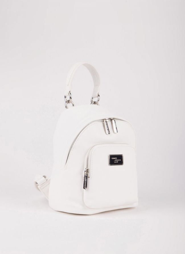 Mini backpack David Jones - Λευκό