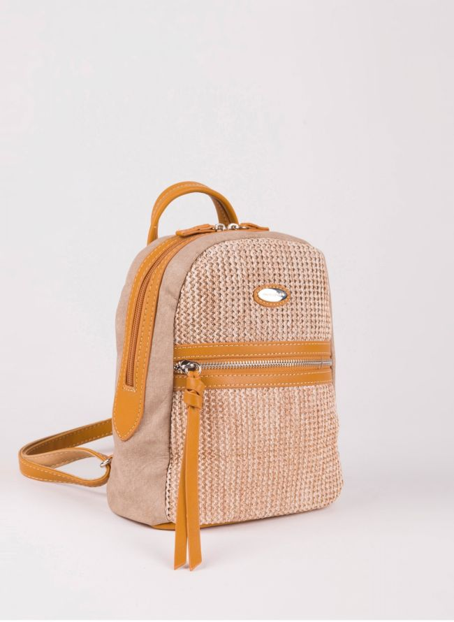Mini backpack David Jones - Κάμελ