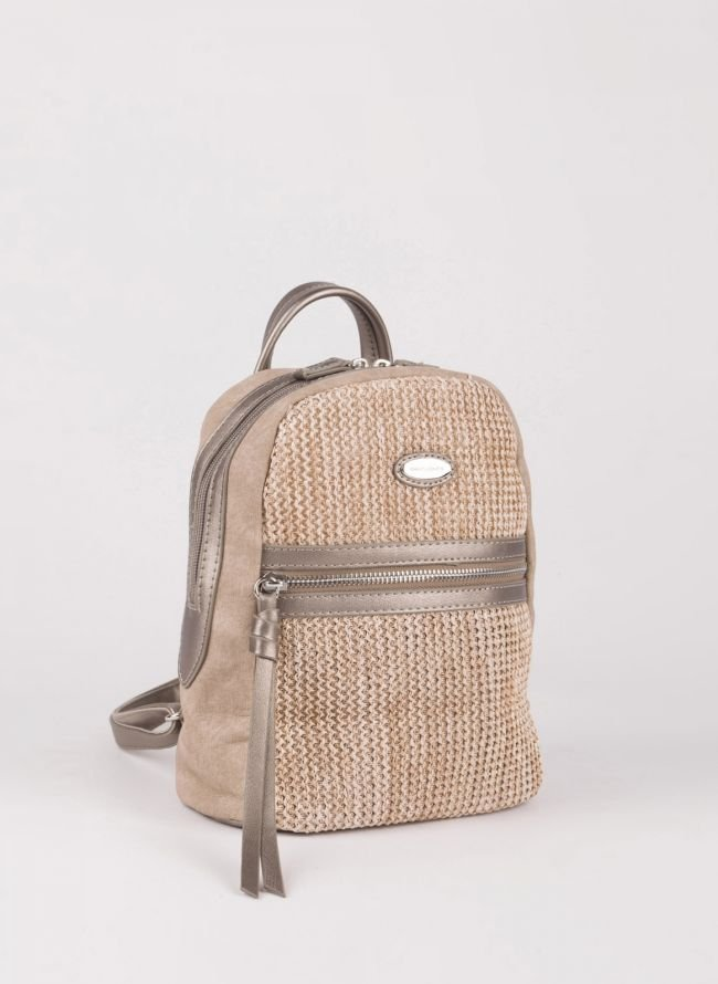 Mini backpack David Jones - Ατσαλί
