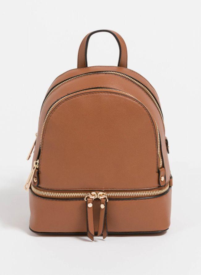 Mini backpack που μπορεί να κρατηθεί και χιαστί  - Ταμπά