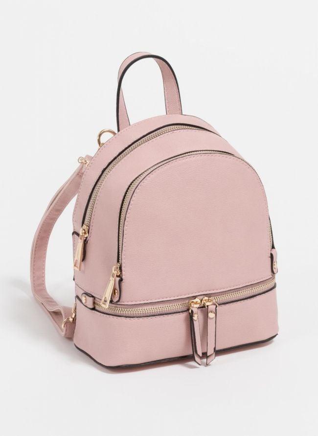Mini backpack που μπορεί να κρατηθεί και χιαστί  - Ροζ