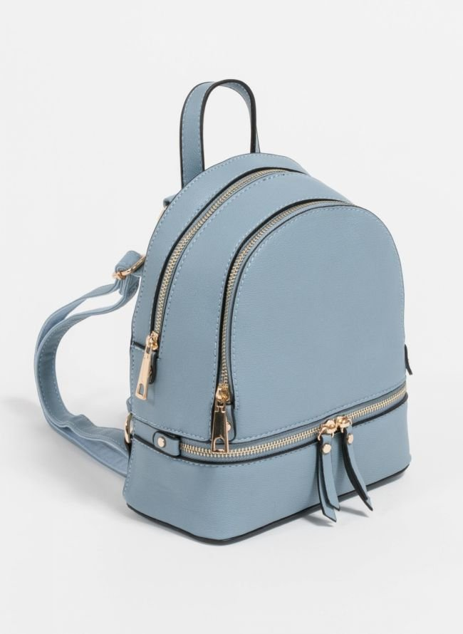 Mini backpack που μπορεί να κρατηθεί και χιαστί  - Γαλάζιο