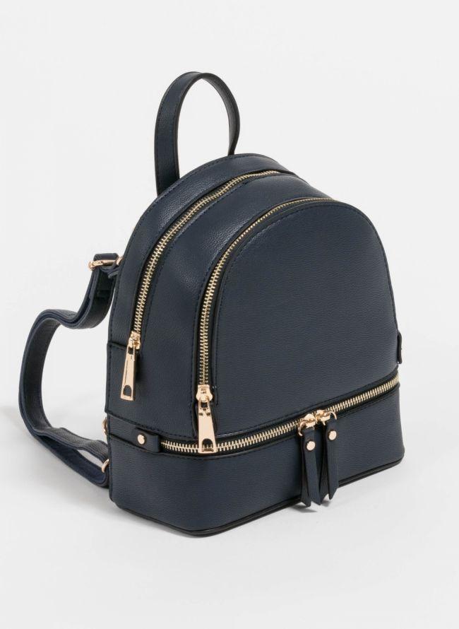 Mini backpack που μπορεί να κρατηθεί και χιαστί  - Μπλε σκούρο