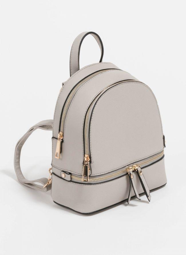 Mini backpack που μπορεί να κρατηθεί και χιαστί  - Γκρι