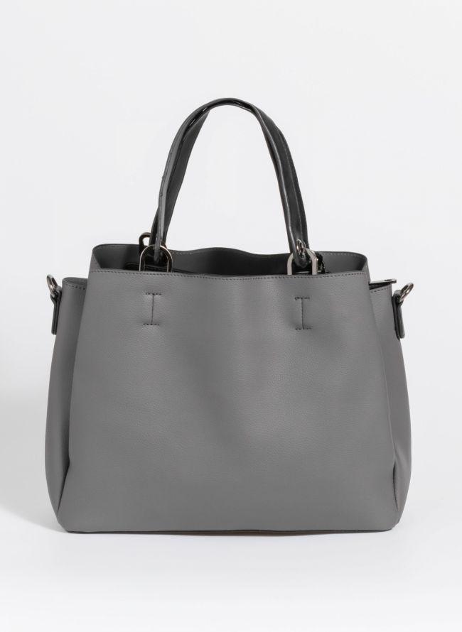 Minimal τσάντα ώμου - Ανθρακί