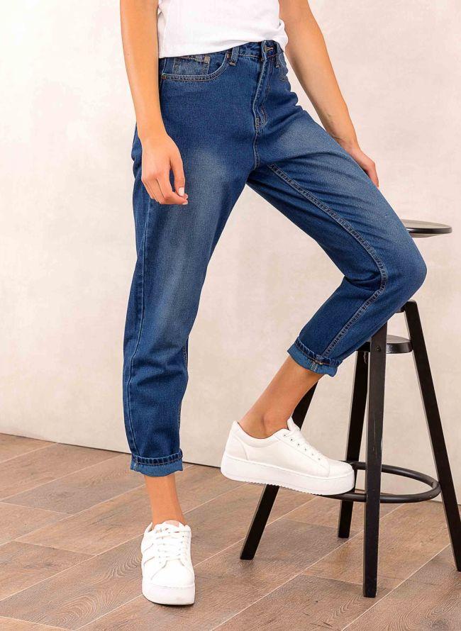 Mom fit basic - Μπλε jean