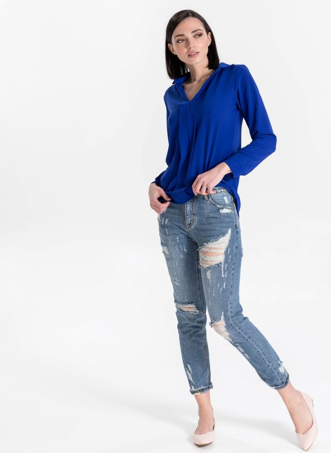 Mom's fit jeans - Μπλε jean