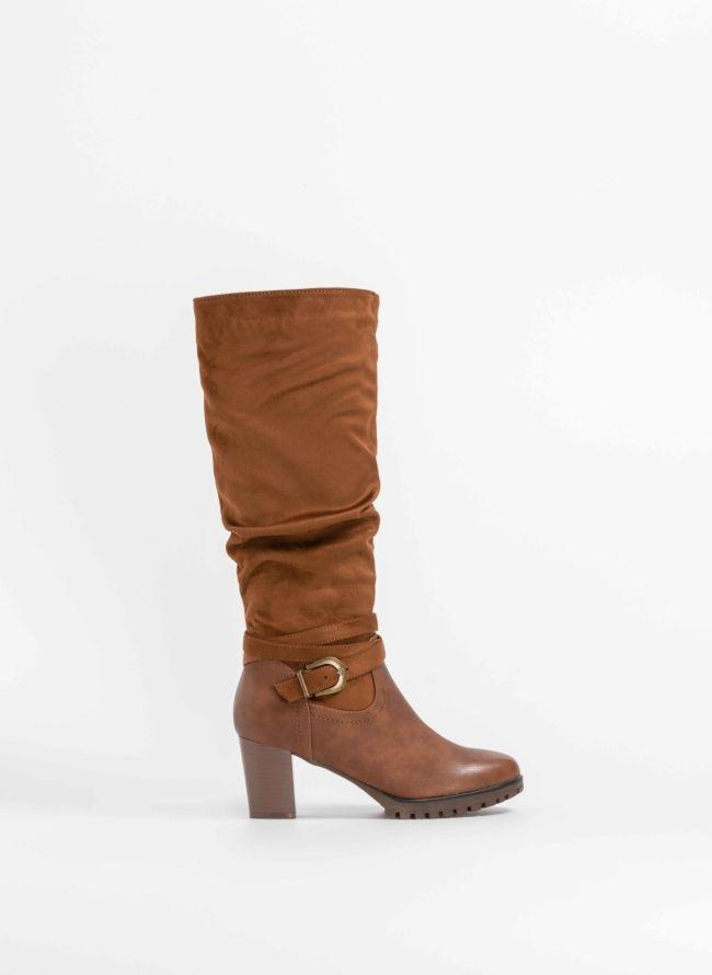 Μπότες με ζωνάκι στον αστράγαλο - Ταμπά