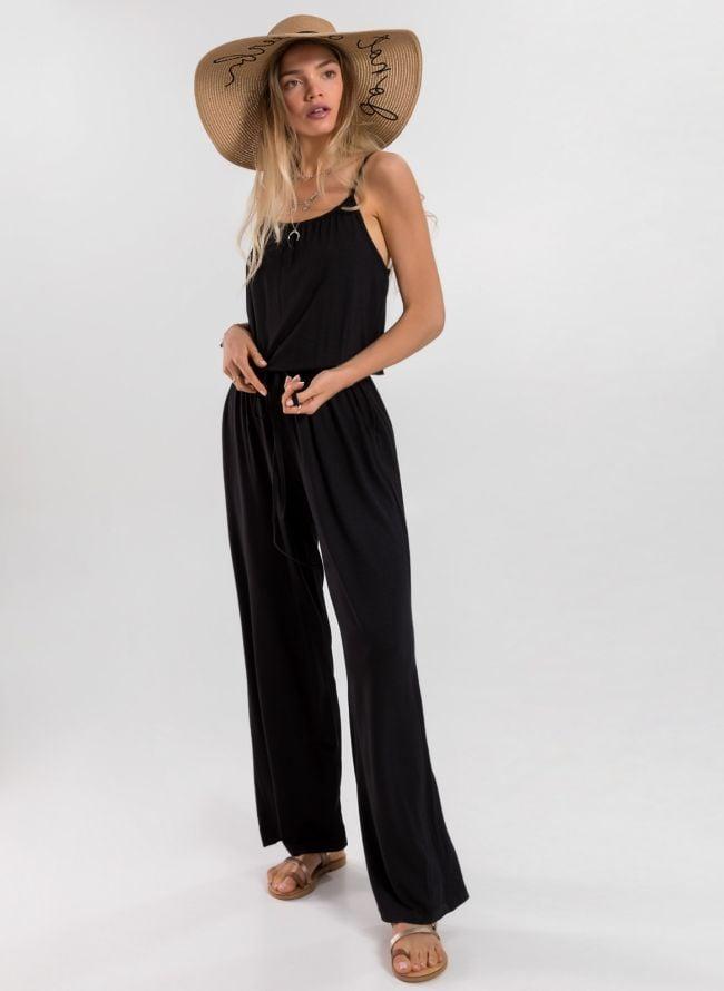 Ολόσωμη φόρμα με ραντάκι - Μαύρο
