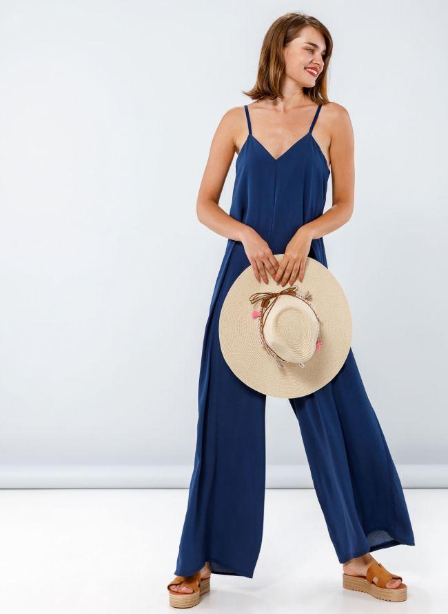 Ολόσωμη φόρμα σε άνετη γραμμή - Μπλε