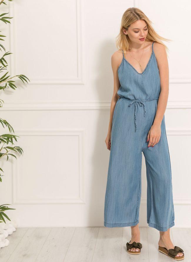 Oversized ολόσωμη φόρμα - Μπλε jean