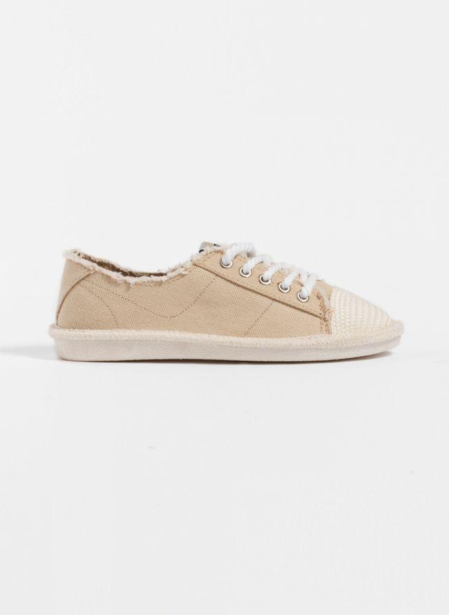 Πάνινα sneakers - Μπεζ