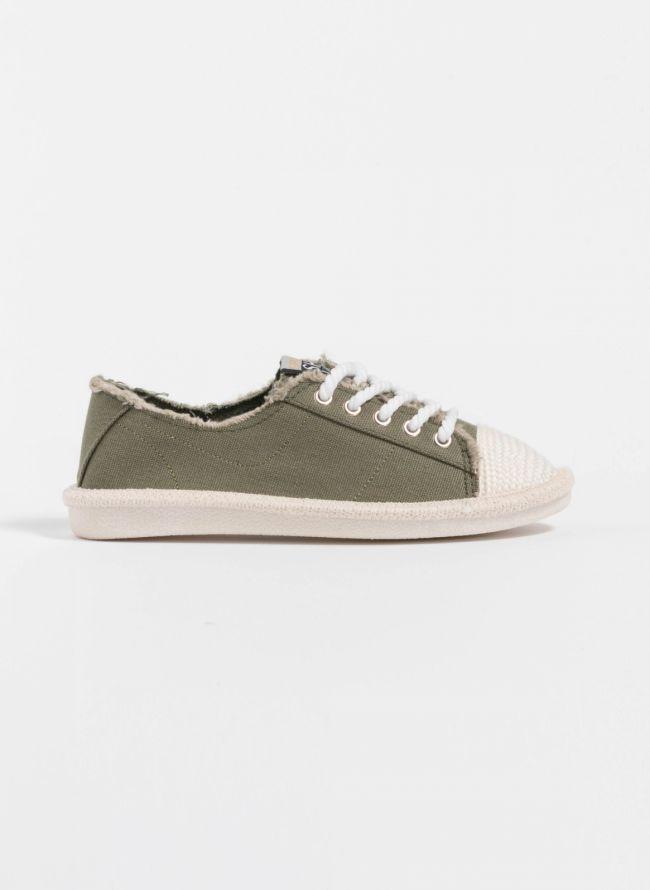 Πάνινα sneakers - Χακί