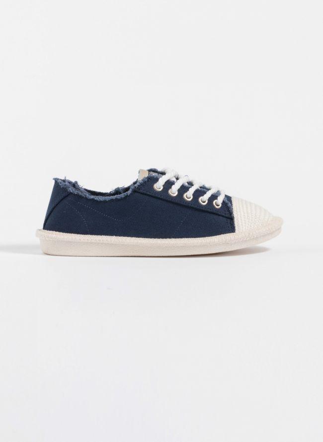 Πάνινα sneakers - Μπλε jean