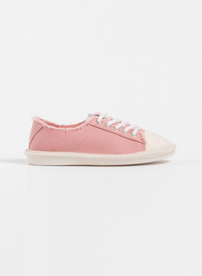 Πάνινα sneakers - Ροζ