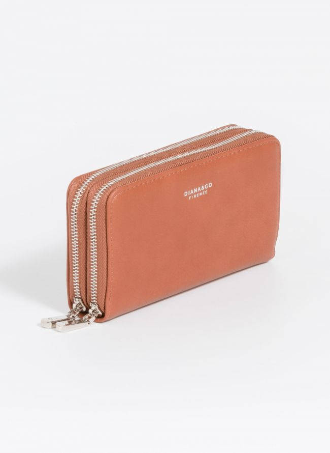 Πορτοφόλι δύο θέσεων με φερμουάρ - Ταμπά