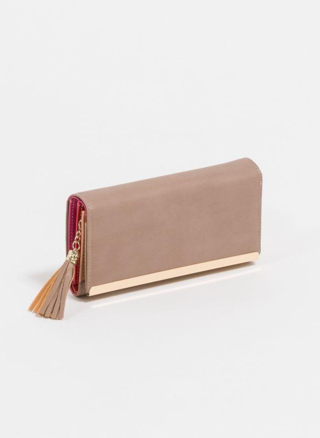 Πορτοφόλι με διακοσμητικά κρόσσια - Πούρο