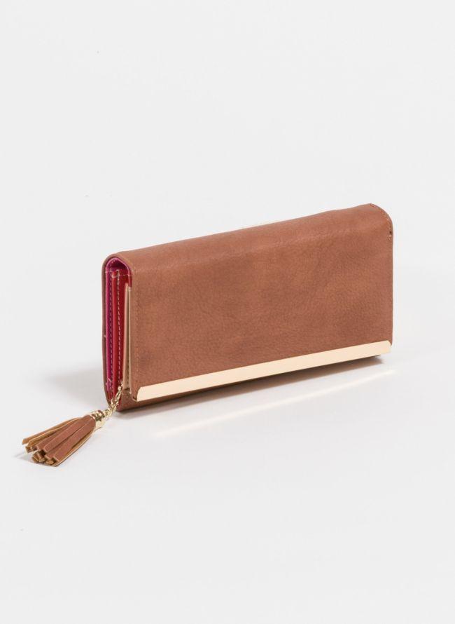 Πορτοφόλι με διακοσμητικά κρόσσια - Ταμπά