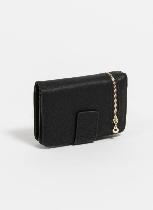 Πορτοφόλι με εξωτερικό φερμουάρ - Μαύρο