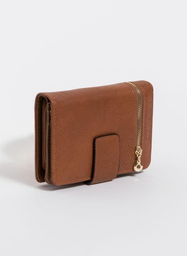 Πορτοφόλι με εξωτερικό φερμουάρ - Ταμπά