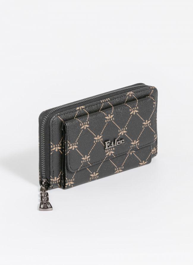 Πορτοφόλι με logo - Μαύρο