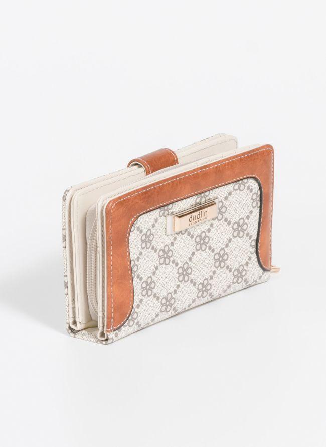 Πορτοφόλι με σχέδιο - Μπεζ