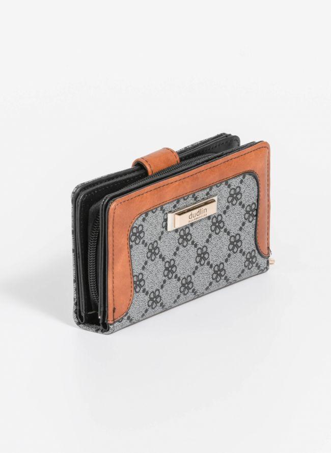 Πορτοφόλι με σχέδιο - Γκρι
