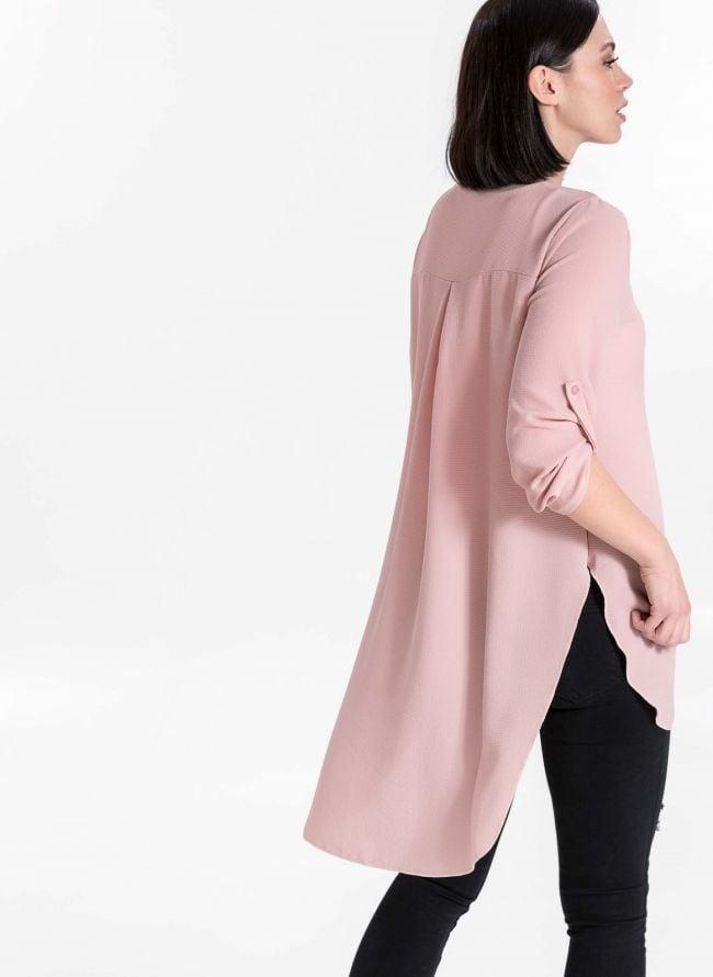 Πουκαμίσα με φερμουάρ - Ροζ