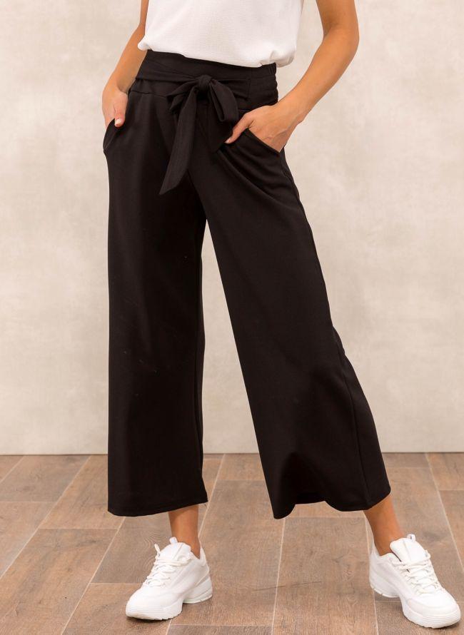 Ψηλόμεση zip culotte  - Μαύρο