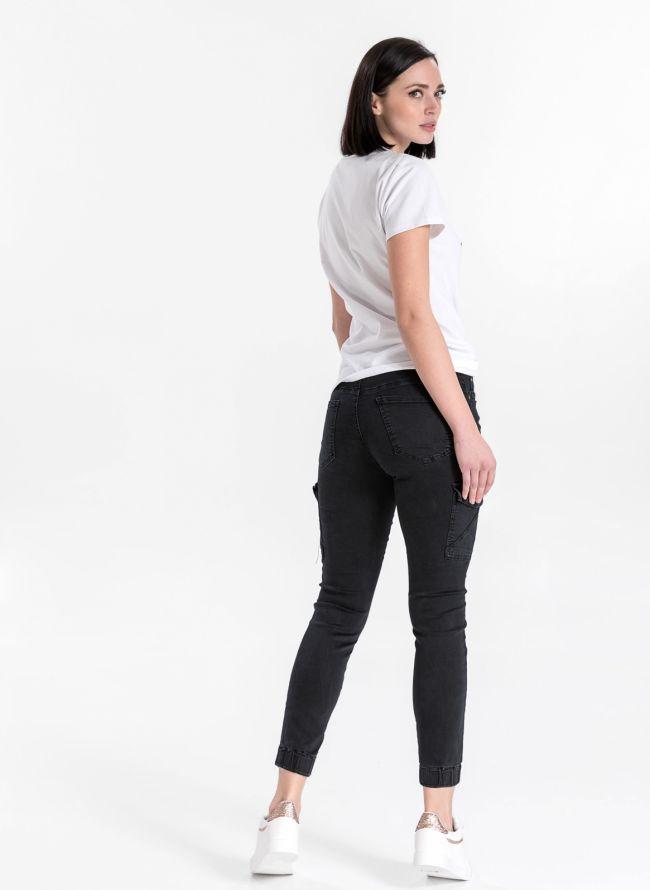 Ψηλόμεσο cargo παντελόνι - Μαύρο