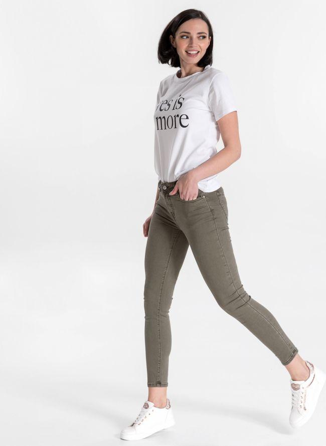Ντένιμ παντελόνι με χρώμα - Χακί