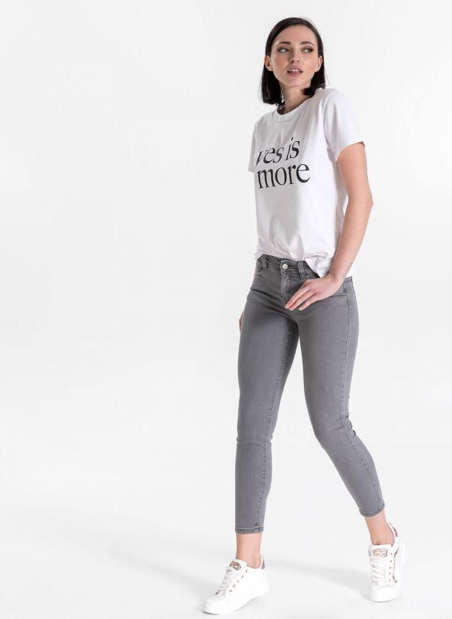 Ντένιμ παντελόνι με χρώμα - Γκρι