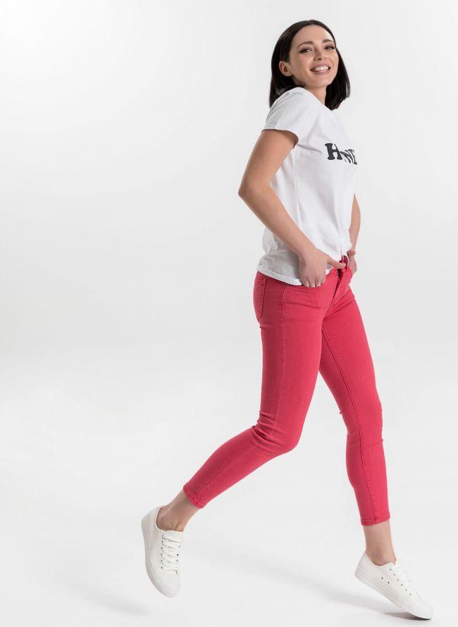 Ντένιμ παντελόνι με χρώμα - Ροδί