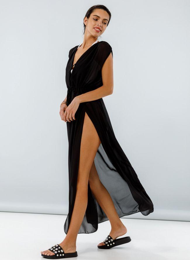 See through φόρεμα-τουνίκ - Μαύρο