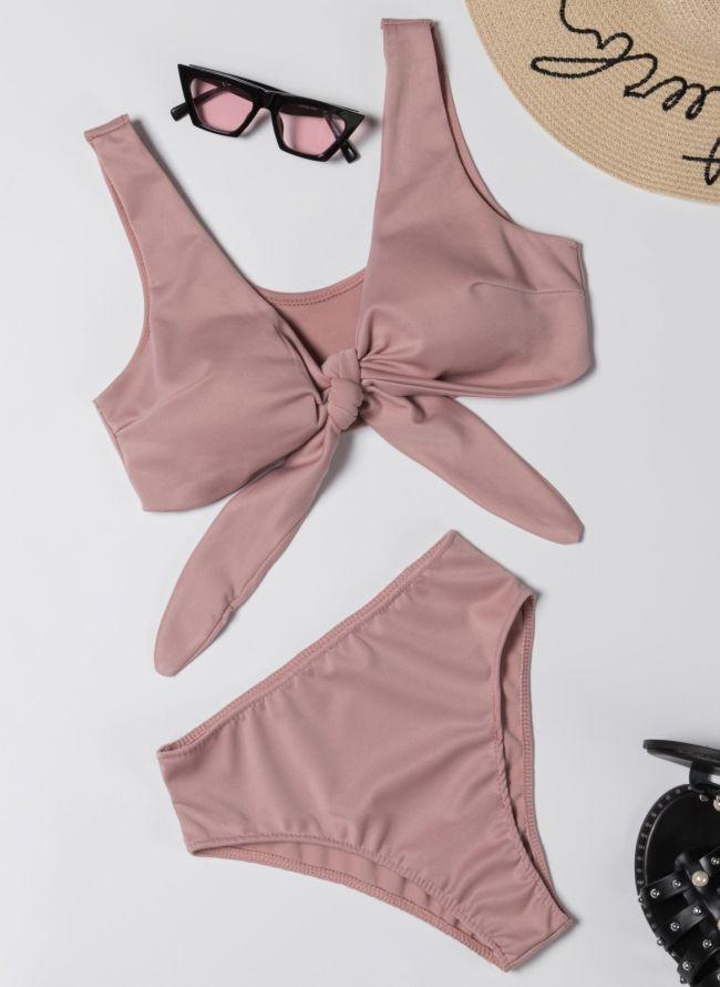 Σετ bikini με μπουστάκι - Nude