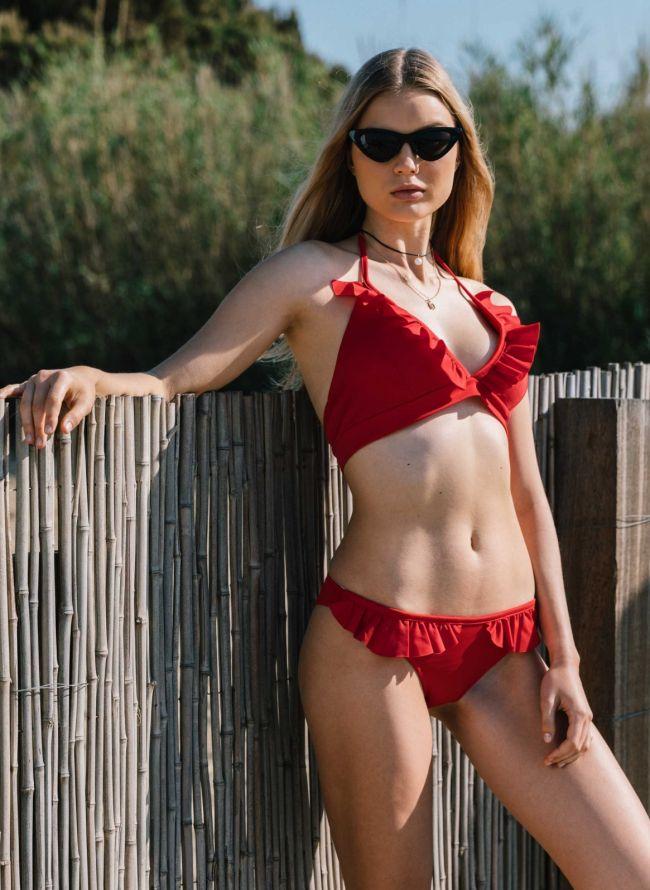 Σετ bikini με βολάν - Κόκκινο