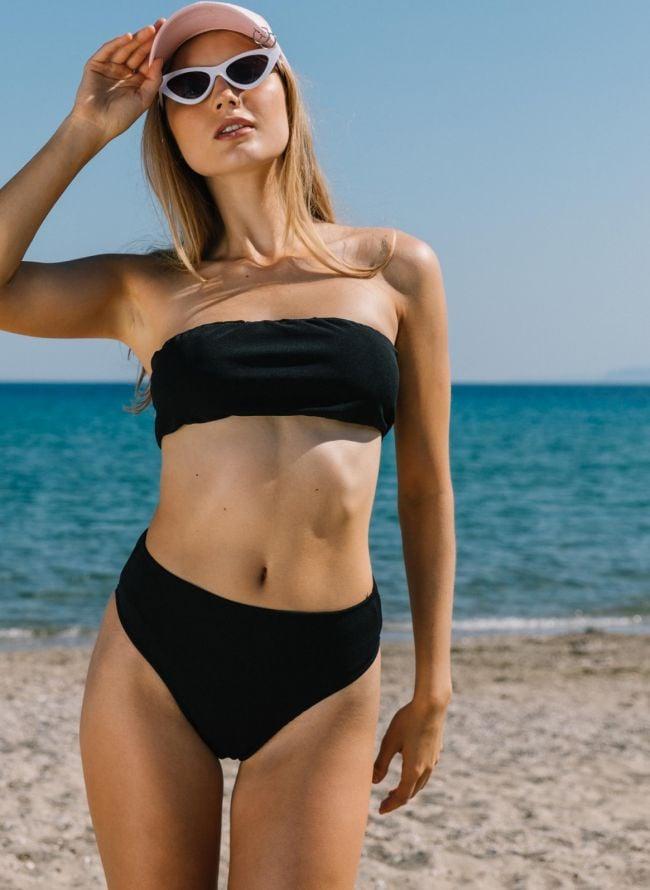 Σετ bikini strapless - Μαύρο