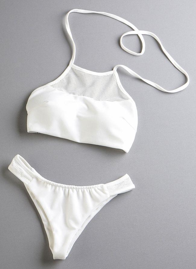 Σετ halter brazilian bikini - Λευκό