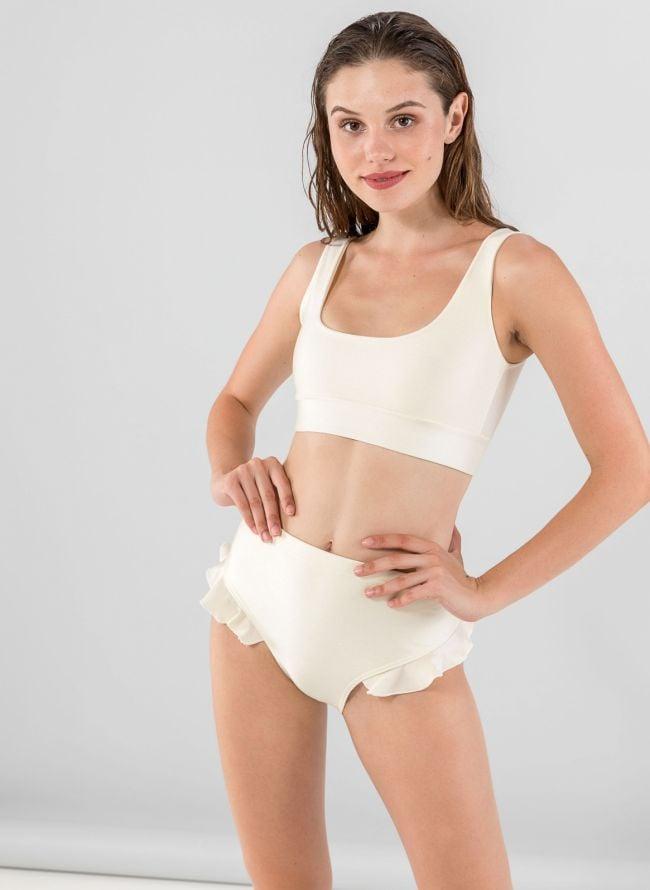 Σετ ψηλόμεσο bikini με βολάν - Ζαχαρί