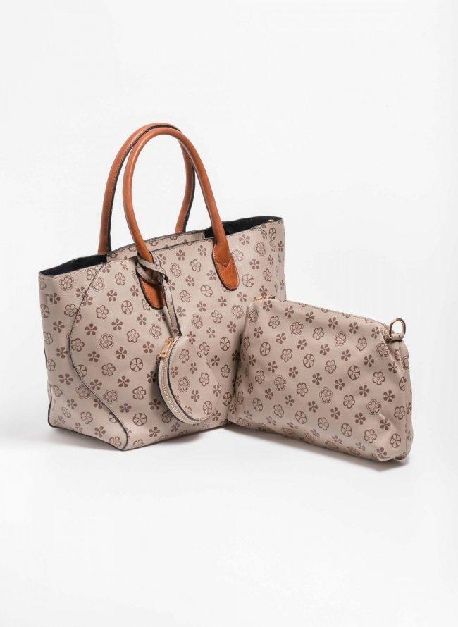 Σετ τσάντες με pattern - Τάουπε 999550c0572