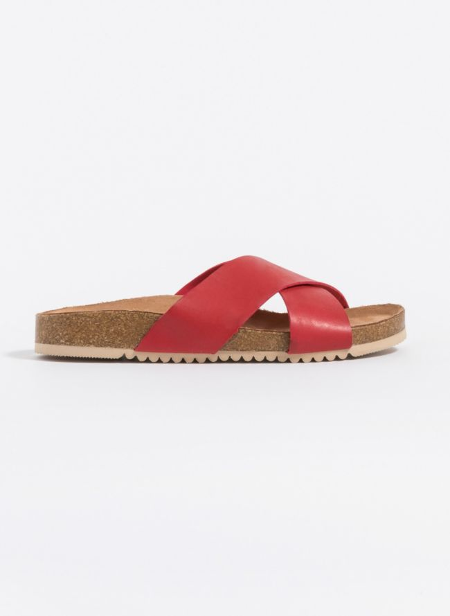Slides με χιαστί φάσες - Κόκκινο