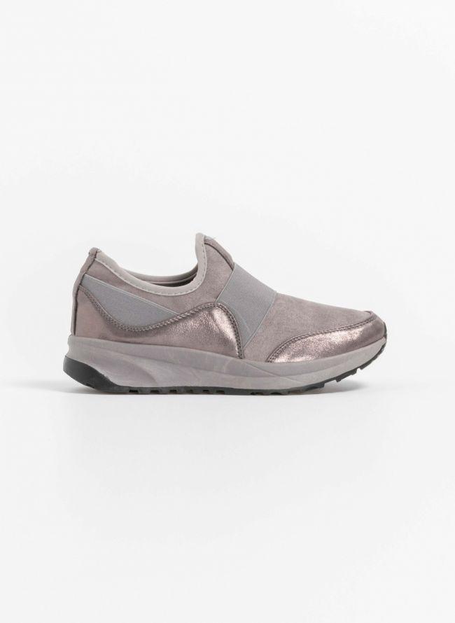 Slip on αθλητικά παπούτσια - Γκρι