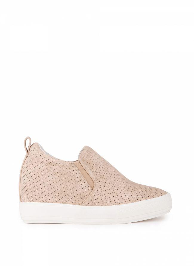 Slip-on sneakers - Μπεζ