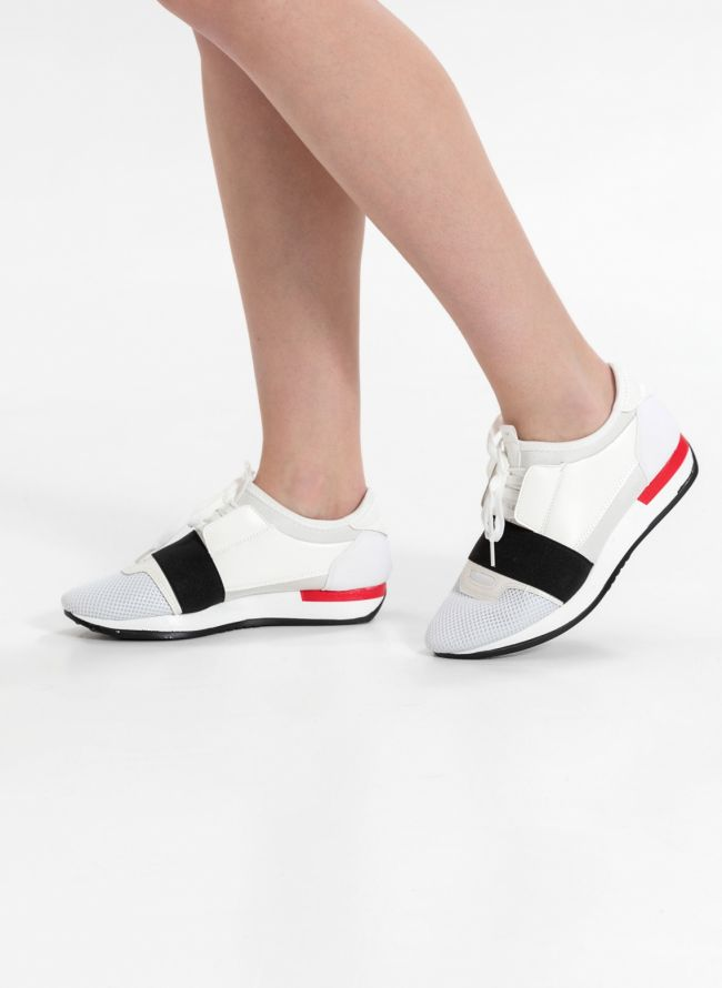 Slip-on sneakers - Λευκό/Μαύρο