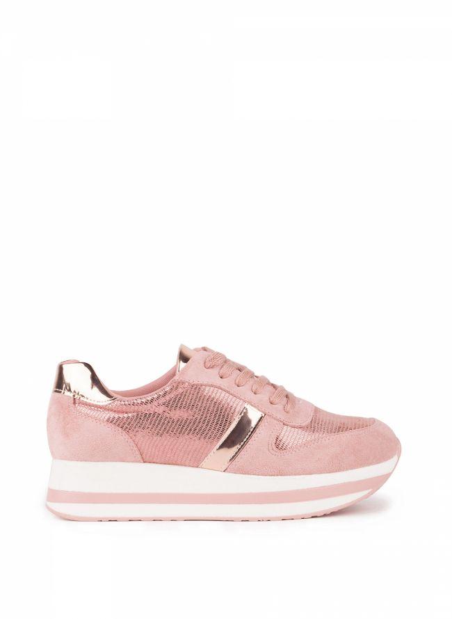Sneakers με διπλή σόλα - Ροζ