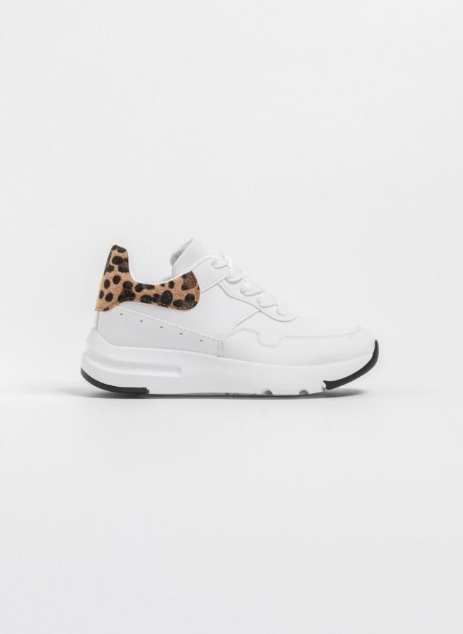 eeae370df2e Sneakers με leopard ponyskin λεπτομέρεια - Leopard