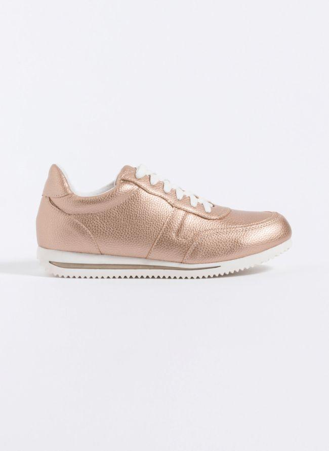 Sneakers με λεπτομέρεια ρίγα στη σόλα - Χαλκό