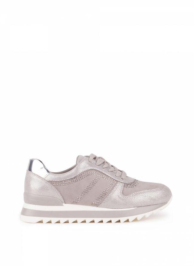 Sneakers με στρας  - Γκρι