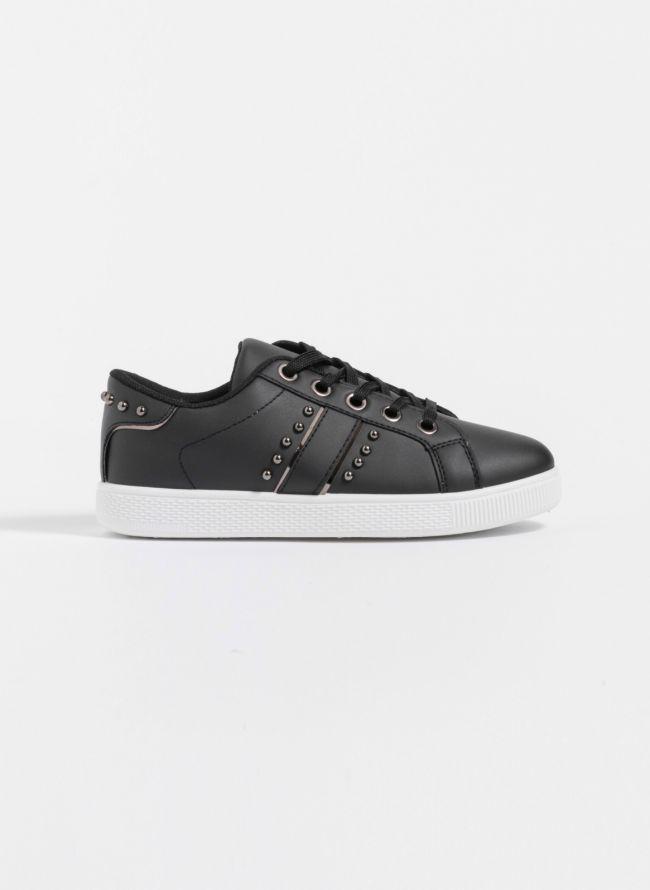 Sneakers με τρουκς στο πλάι και το πίσω μέρος - Μαύρο